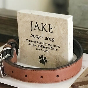 Personalised Printed Pet Memorial Marble Grave Stone Plaque Marker
