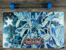 YuGiOh Odd-Eyes Wing Dragon Rule 4 Card Zones TCG Custom Playmat Mat Free Tube