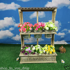 Wooden Planter Wall Display 6 Pots Garden Flower Father's Day Herb Bedding Decor