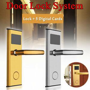 RFID Card Digital Door Stainless Intelligent Hotel Room Lock System 5 Car