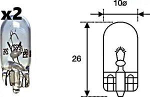 x2 Stk Blinker Glühlampe W5W 12V 5W W2.1x9.5d