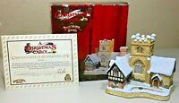 1989 DAVID WINTER Cottages A Christmas Carol Parish Church ORIGINAL BOX & COA