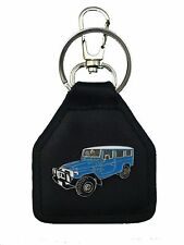 HJ78 - FJ78 Blue Toyota Landcruiser Troop Carrier Quality Leather Keyring