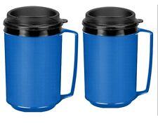 NEW 2 Insulated Coffee Mug Classic Aladdin Mold Thermo Serv 12 oz Blue Sealed