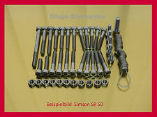 Simson SR 50 / S 51 / S 70 / SR 80 / KR 51 - Schrauben Edelstahl Motorschrauben