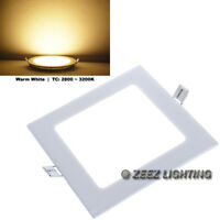 "Warm White 15W 8"" Square LED Recessed Ceiling Panel Down Light Bulb Lamp Fixture"