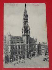 CPA CARTE POSTALE 1906 BELGIQUE BELGIË BRUXELLES BRUSSEL HOTEL DE VILLE
