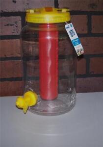 Cool Gear EZ-Freeze 128 oz Water Jug Spout Dispenser Lid, Handle Yellow BPA Free