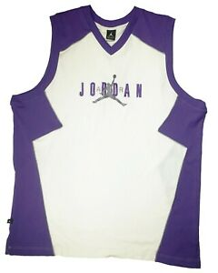 Air Michael Jordan Mens Sleeveless Shirt 3XL Big And Tall V Neck Tank Top