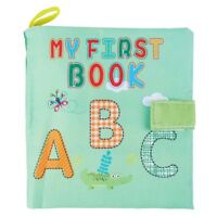 Soft Baby Cloth Book Early Educational Newborn Crib Toys for 0-36 Months In E7A1