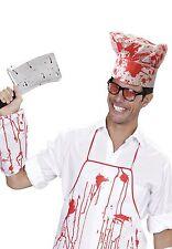 Adulto Unisex Sangriento Chef Set Halloween para TERROR FIESTA DE DISFRACES