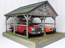 1:18 GMP / Acme / Autoart / Ertl  / garage / carport diorama /Display w/ lights