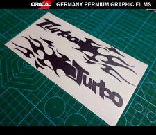 Pair of Turbo Flame Bumper V6 V8 Fast Power boost vinyl decal JDM Racing Sticker