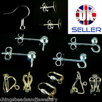 Quality .925 Sterling Silver Plated Earring Hooks Posts Earring Findings