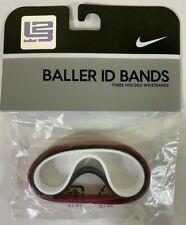 NIKE LeBron James Baller ID Bands Wristbands Bracelets New Set of 3 NWT wrist