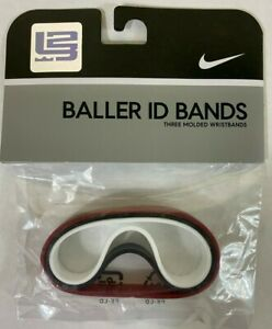 NIKE LeBron James Baller ID Bands Wristbands Bracelets New Set of 3 NWT wrist