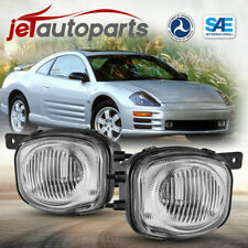 For 00 02 Mitsubishi Eclipse Fog Lights Clear Lens Replacement Bumper Lamps Pair Fits 2002 Mitsubishi Eclipse