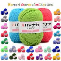 25g Soft Cotton Yarn Crochet Hand DIY Knitting Yarn Baby Knit Wool Yarn Craft