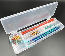 140pcs Solderless Breadboard Jumper Cable Wire Kit Box DIY For Arduino