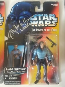 BILLY DEE WILLIAMS SIGNED LANDO FIGURE STAR WARS POWER OF THE FORCE