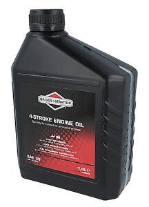 Genuine BRIGGS & STRATTON 1.4L 4 Stroke SAE30 Engine Oil 100006 E Lawnmower