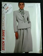 1984 Stitch 'N Save by McCall's size A 8-10-12 Misses Jacket & Skirt Pattern