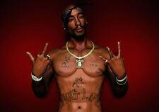A4 Poster - 2 Pac (Tupac Shakur Thug Life Gangster Rap Music Picture Print Art)