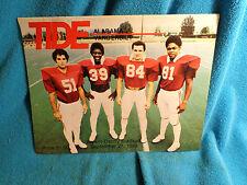 1980 Alabama vs Vanderbilt Vandy Football Program Bear - Bryant Denny  Stadium
