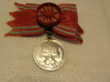 JAPANESE RED CROSS MERIT ORDER ALUMINUN W/ROSETTE WITH BOX