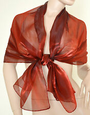 STOLA ROSSO AMARANTO coprispalle donna scialle elegante FOULARD Cerimonia F1