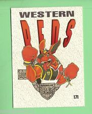 1995  WESTERN  REDS  RUGBY LEAGUE TEAM MASCOT CARD