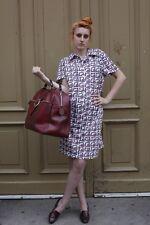 """JERSEY Kleid Tageskleid Sommerkleid """"50"""" L  60er Polyester 70er True VINTAGE 70s"""
