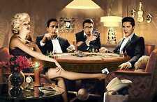 Fototapete FOUR OF A KIND 175x115 Elvis James Dean Marilyn Monroe Humphre Bogart