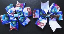 1 x FROZEN ANNA & ELSA HAIR BOW (APPROX. 3 INCHES WIDE) WITH CLIP