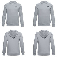 Under Armour Boys Rival Hoodie Sweatshirt Tracksuit Top Fleece Cotton Size