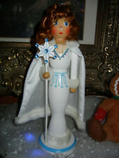 CLASSIC WOOD NUTCRACKER SUITE * SNOW QUEEN with JEWELED SNOWFLAKE * CHRISTMAS