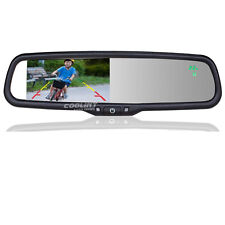 2CH Video input OEM 4.3 Inch Car Rearview Mirror Monitor with Compass Temerature