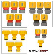 More details for garden hose attachments hozelock water stop / end connector / 3/4 threaded tap