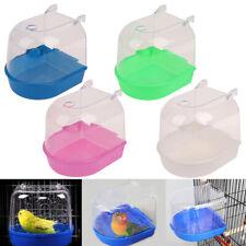 Pet Bird Bathtub Hanging Parrot Bathtub Bird Cage Accessories Bath Shower Hs