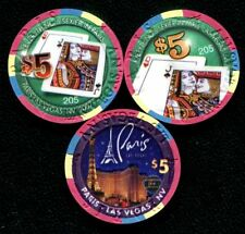 $5 Las Vegas Paris Everything's Sexier Casino Chip - Set of 2 with  Matching #'s