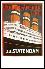 Holland-America Line S.S.Statendam cruise ship Dalkeith poster postcard