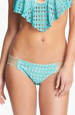 NEW! Luli Fama 'Burbujas de Amor' Bikini Bottoms Aqua [Medium] #2434