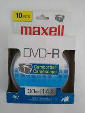Maxell Camcorder DVD-R Blank Disc 10pcs 30 min 1.4 GB New