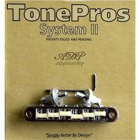 TonePros TP6G-C Chevalet Nashville Nylon 66'saddle Tune-O-Matic Bridge Gibson LP