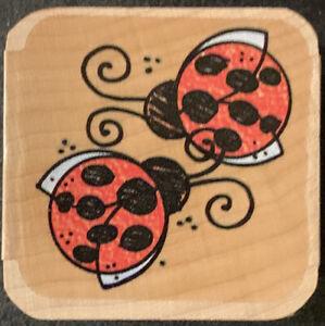 Stampendous Nestling Ladybug Pair Rubber Stamp