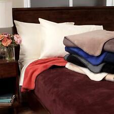 IBENA Luxurious Plush Reversible Jacquard Woven Cotton Blend Queen Bed Blanket