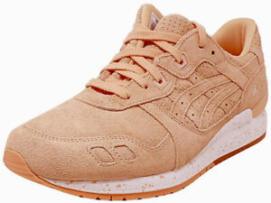 Asics Gel Lyte III Men's Sneakers Size 8 Shoes Apricot Ice Suede Rare Salmon New