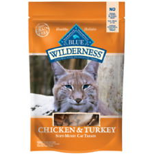 Blue Buffalo Wilderness CHICKEN/TURKEY Cat Treats 2 oz Healthy Holistic