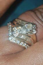 18ct yellow gold engagement & wedding rings.