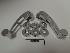 Chrome Billet Aluminum 4 1/4 Window Crank Handle Kit Hot Rod Chevy Ford Chrysler